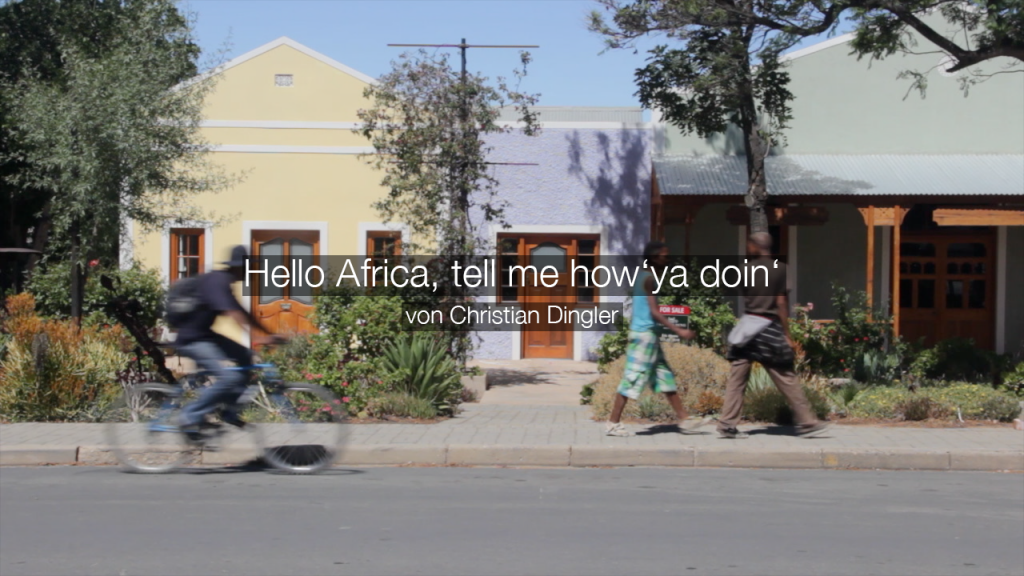 Hello Africa, tell me how'ya doin'